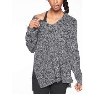 Athleta Switchback Black White Pullover Sweater